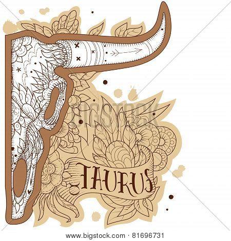 Engraving taurus