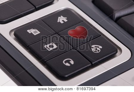 Buttons On A Keyboard - Love
