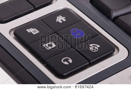 Buttons On A Keyboard - Lock