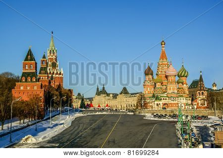 Saint Vasily Blessed Cathedral In Moscow