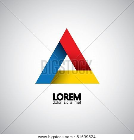 Abstract Triangle Vector Design Template Icon