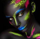 foto of dark-skin  - close - JPG