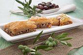 pic of baklava  - Mediterranean traditional pastries  - JPG