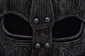 image of viking  - Craft viking helmet visor with black eyes - JPG