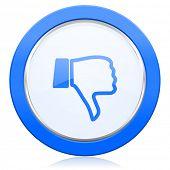 picture of dislike  - dislike icon thumb down sign  - JPG