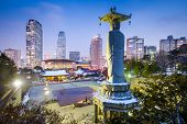 picture of seoul south korea  - Bongeunsa Temple in the Gangnam District of Seoul - JPG