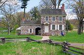 foto of revolutionary war  - This house at the Valley Forge National Historical Park was George Washington - JPG
