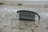 image of pooper  - A chair stuck in the mud at appropriately named  - JPG