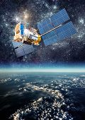 pic of orbit  - Space satellite orbiting the earth - JPG