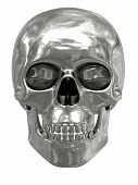 picture of eye-sockets  - Silver or platinum skull isolated on white background - JPG