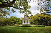 stock photo of gazebo  - A gazebo known as The Bandstand in Singapore Botanic Gardens - JPG