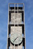 foto of city hall  - Clock of Aarhus city hall in Denmark - JPG