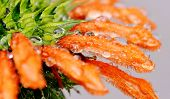 picture of dagga  - Close up of Leonotis leonurus Wild Dagga Plant - JPG