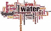 stock photo of transpiration  - Water word cloud concept - JPG