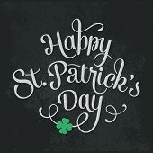 image of saint patrick  - Vector illustration Typographic Saint Patrick - JPG