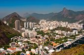 pic of olympic mountains  - Skyline of Rio de Janeiro with Corcovado - JPG