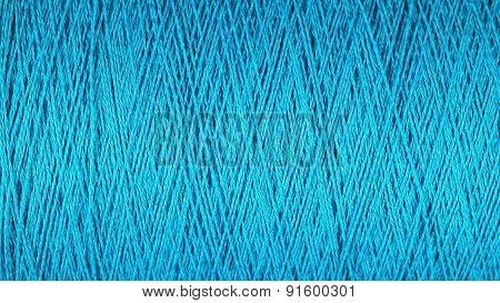 Spool Of Blue Thread Macro Background