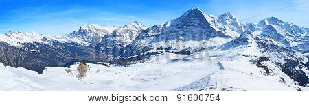 Panorama Of Alps