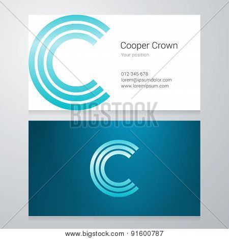 Letter C Business Card Template