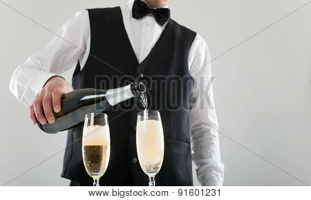 Portrait of a waiter at work