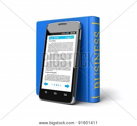 Touchscreen smartphone and Business Book (clipping path included)
