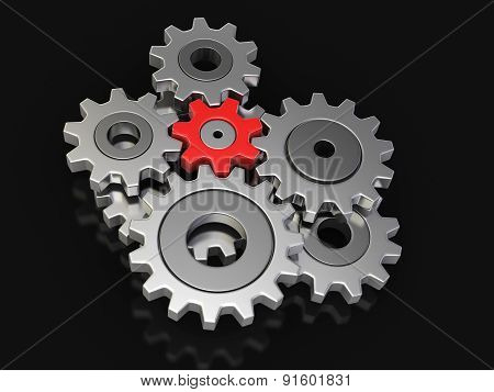 Cogwheels (clipping path included)