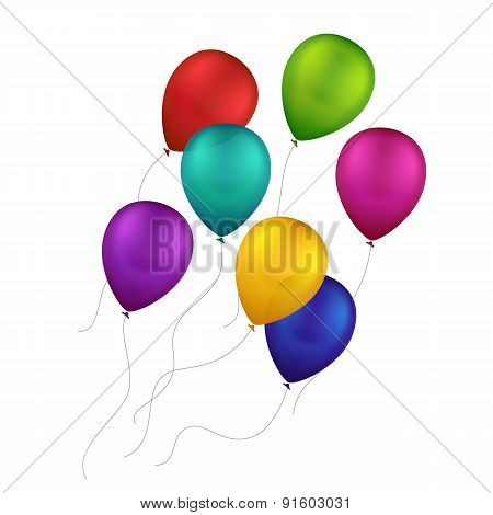Vector Multicolored Colorful Balloons