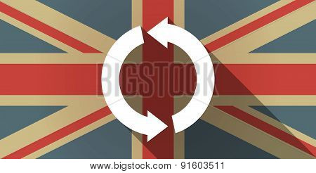 Uk Flag Icon With A Recycle Sign