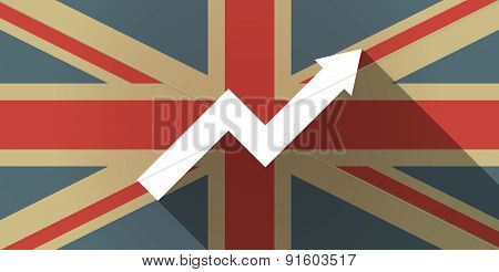 Uk Flag Icon With A Graph