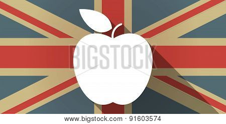 Uk Flag Icon With A Fruit
