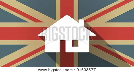 Uk Flag Icon With A House