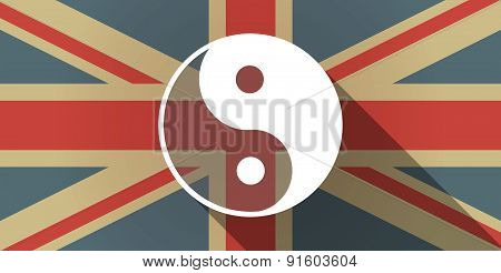 Uk Flag Icon With A Ying Yang