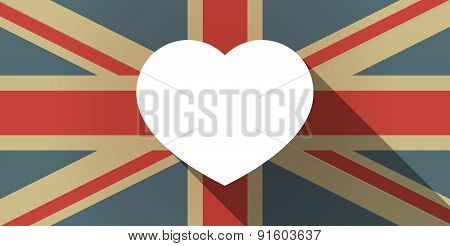 Uk Flag Icon With A Heart