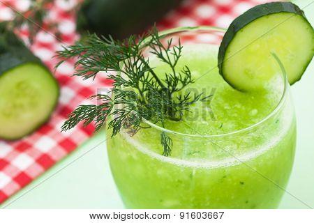 Fresh organic cucumber smoothie