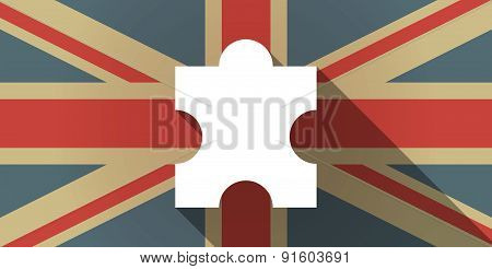Uk Flag Icon With A Puzzle Piece