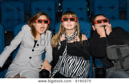 Viewers Of 3D Movie Theater