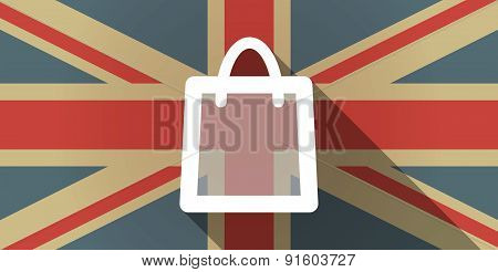 Uk Flag Icon With A Shopping Bag