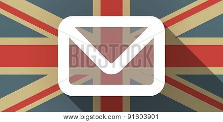 Uk Flag Icon With An Envelope