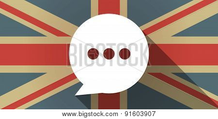 Uk Flag Icon With A Comic Balloon