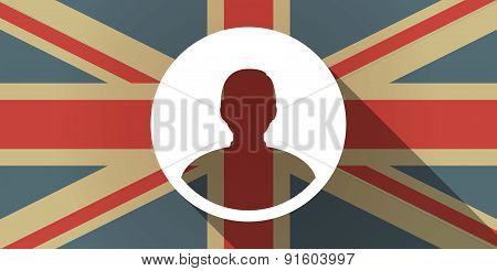 Uk Flag Icon With A Male Avatar