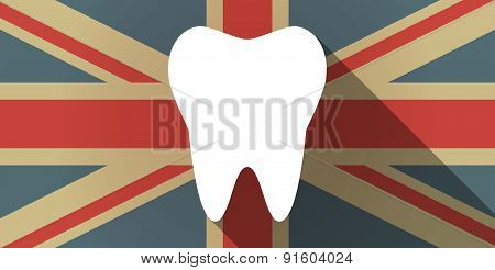 Uk Flag Icon With A Tooth