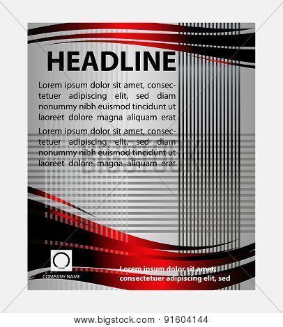 Flyer, leaflet, booklet layout. design template
