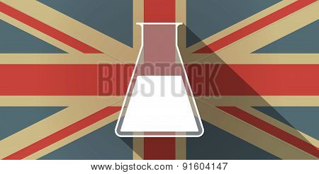 Uk Flag Icon With A Chemical Test Tube