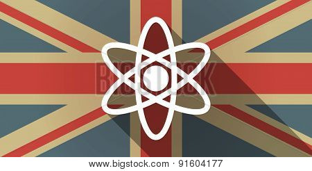 Uk Flag Icon With An Atom