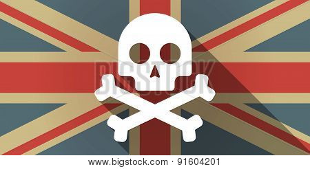 Uk Flag Icon With A Skull