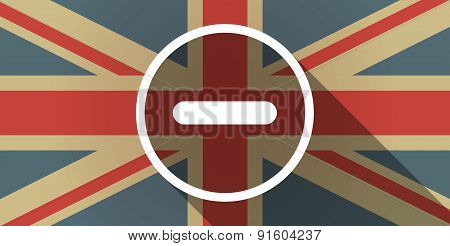 Uk Flag Icon With A Subtraction Sign