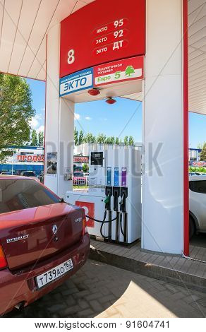 The Car At The Petrol Station Lukoil In Samara, Russia