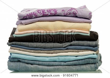 Stack from clothes isolated