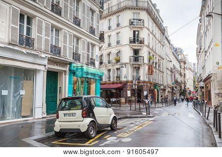 Street In Paris, Rue St. Andre Des Arts