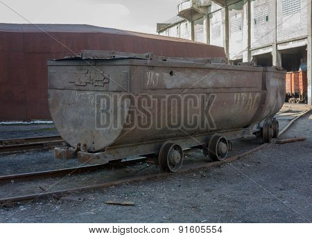 The Empty Trolley At The Mine Yard
